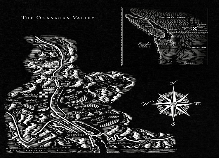 Checkmate Vineyards Map